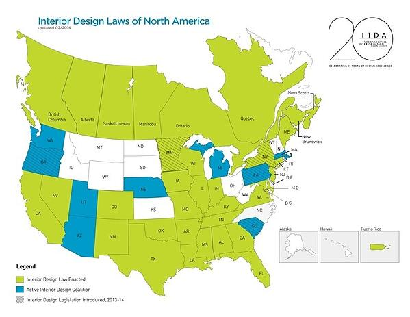 Interior designer license by state